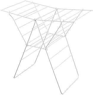Metaltex 40720014080 LIONE Séchoir sur Pieds à Ailes 17m, Métal, Blanc