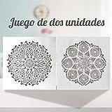 Conjunto de 2 Cuadro Mandala de Pared Calada, Fabricada artesanalmente en España-...