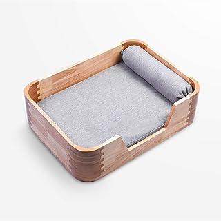 Wooden cat Bed, pet cat Bed, Comfortable cat Plush Sponge Cushion, pet Bed, Modern cat Bed, Living Room pet Sofa, Used as Medium-Sized cat.