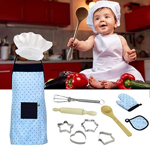 Kids Cooking Baking Toy Set Cosplay Utensilios de cocina Herramientas para hornear Delantal de pastel Jugar Inicio Cocina Juguetes Niños Cocina Set Herramientas para hornear Delantales awesome