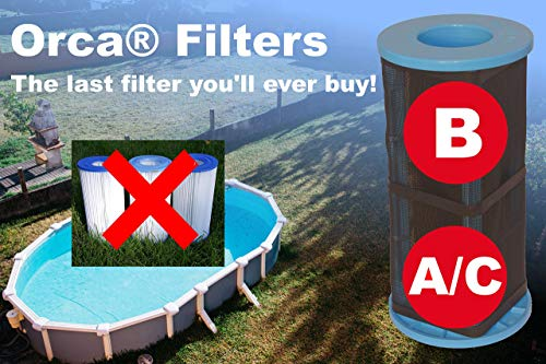 Orca Filters Reusable Type A/C Pool Filter
