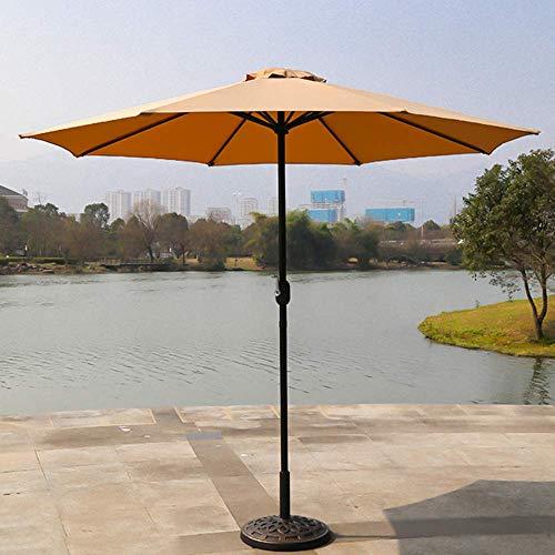 NMDD Umbrella For Outdoor Garden Waterproof Beach Umbrella With Hand Crank 270cm Patio With 8 Steel Ribs