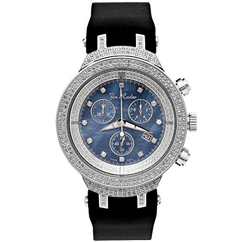 Joe Rodeo Diamante reloj de hombre–Master Plata 2.2Ctw