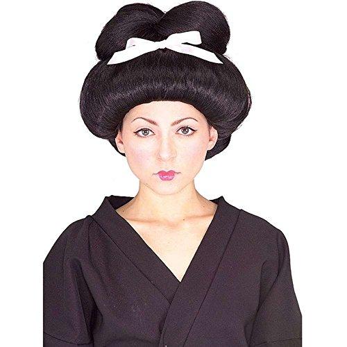 Fancy Dress Wig - Geisha Wig with Ribbon