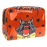Bolsa de maquillaje portátil con cremallera bolsa de aseo de viaje para mujeres práctico almacenamiento cosmético bolsa animal con boca abierta