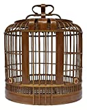 Travel Carrier for Birds Bird Cage Handmade Bamboo Large Thrush Bird Cage Portable Hanging Design Bird Out Cage Pet Supplies Poultry Care Pet Products (Size : 3348 cm)