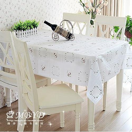 BlauLSS Bunte runde Tischdecke Tischdecke aus Polyester Weißen Leinentüchern für Hochzeiten dekorative Home Hotel Restaurant Dekorationen V20, Gelb, 135 CM RUNDE