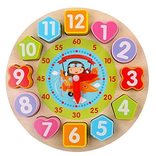ACHICOO Houten puzzel klok speelgoed cognitieve digitale klok houten klok puzzel speelgoed