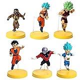 WEIbeta 6 Unids/Set Tamaño Grande Dragon Ball Z Goku Gohan Vegeta Broly Frizza Super Saiya Cute God Figura de Acción DBZ PVC Modelo de Juguete 10-12cm