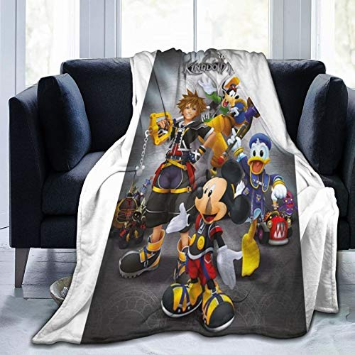 Kingdom Hearts - Manta de forro polar para TV con bolsillos en las mangas y los pies, gran manta envolvente para mujeres y hombres, 125 x 150 cm