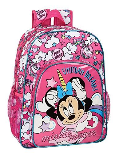 safta 612012180 Mochila Escolar de Minnie Mouse, Rosa, Único