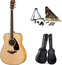 Yamaha FG840 Acoustic Guitar, Flamed Maple, with Yamaha Guitar Case and Accessories Pack