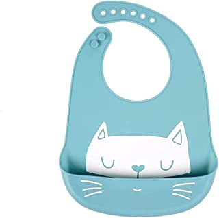 Mumoo Bear Baby Bibs Waterproof Silicone Feeding Bibs for Babies and Toddlers Unisex Super Soft and Easily Wipe Clean with...