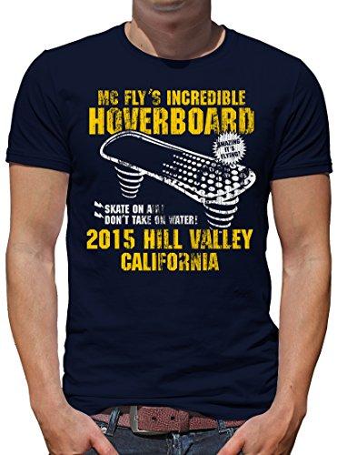 TShirt-People Hoverboard California - Maglietta da uomo Blu scuro XL