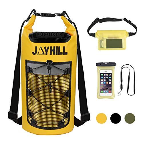 20L Wasserdichter Dry Bag 3 teiliger mit wasserdichte Handyhülle und Hüfttasche...