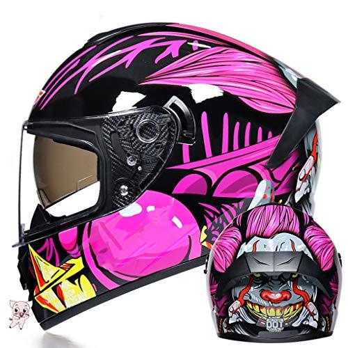 Motorradhelm mit Antibeschlag-Visier Klappbarer Motorrad-Bluetooth-Helm Motorrad Freisprecheinrichtung, geräuschfrei, automatische Beantwortung, Doppelvisier für Männer Frauen DOT-Sicherheitszertifi