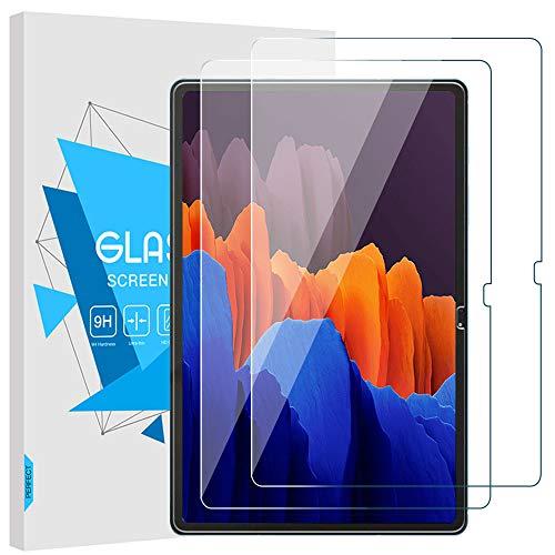 TiMOVO Folie Kompatibel mit Galaxy Tab S7 Plus/S7+, [2 Stück] Klar Glasfolie Screen Protector HD 9H Panzerglas Bildschirmschutzfolie Schutzfolie Kompatibel mit Samsung Galaxy Tab S7 Plus/S7+, Transparent