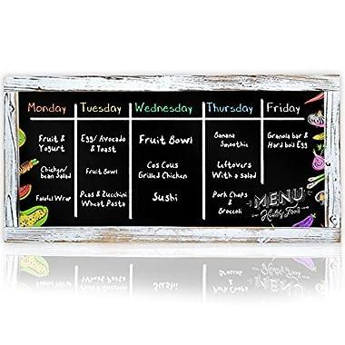 XL Restaurant Chalkboard Menu Blackboard | 16 x 32 Decorative Framed Antique Vintage Style Chalkboards | Wall Mount (Large Hanging Black Board Sign) (16x32)