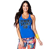 Zumba Dance Fitness - Camiseta de tirantes transpirable para mujer, color azul