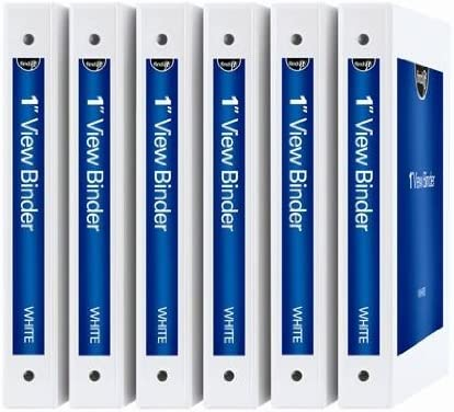 Find Max 65% OFF It DIY View Binder Many popular brands 1 Inch per Sets 6 White Pack