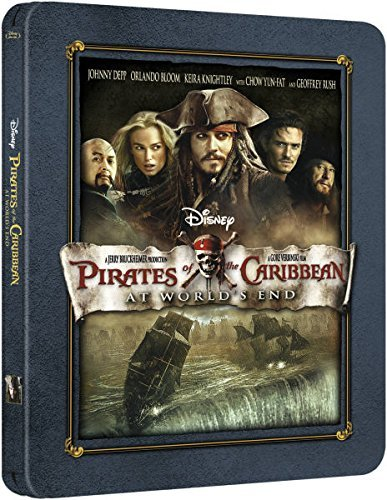 Pirates of the Caribbean 3 At Worlds End- UK Exclusive Limited Edition Steelbook Blu-ray Only 3000 Made 2015(Release 6th April)(sold by twilight productions)