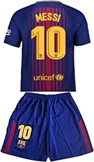 GuoXinyin Messi #10 2017-2018 New FC Barcelona Home Jersey & Shorts for Kids/Youth
