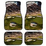 XHYYY Carpet Floor Mats Drone View Pebble Beach Golf Course Automotive Floor Mats Car Universal-fit Front & Rear Carpet Floor Mats 4pc Set
