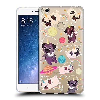 Head Case Designs Pug Unicornios espaciales Carcasa de Gel de Silicona Compatible con Xiaomi Mi MAX 2