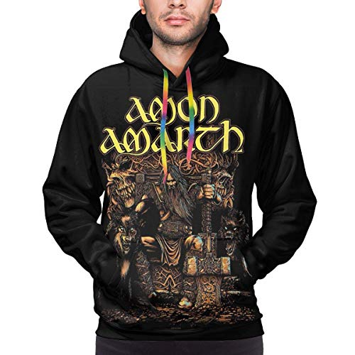 Jingliwang Amon Amarth The Avenger Coole Männer 3D Digitaldruck Sweatshirt Full Zip Pullover Jacke Hoody