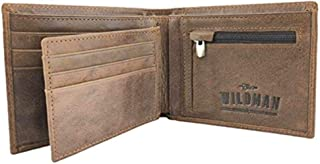 Mens Leather Wallet, Coin Pocket, Holds 9 Cards, Removable Mini Wallet