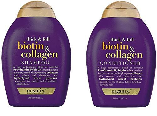 ogx® (ehemals Organix) Thick & Full Biotin Collagen SHAMPOO 385ml + CONDITIONER/SPÜLUNG 385ml - für dichteres und glänzendes Haar
