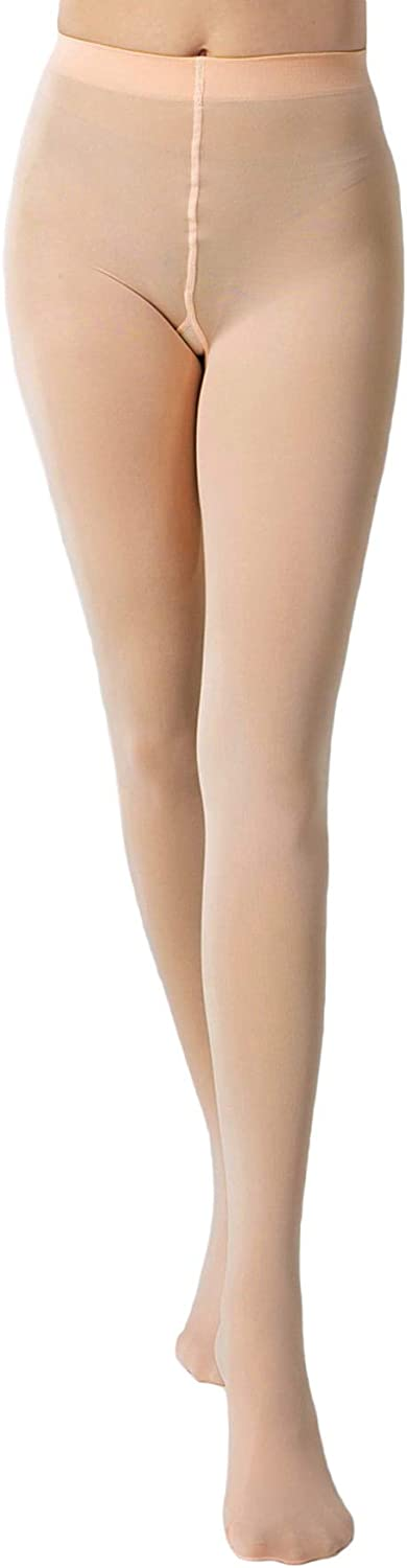MakeMeChic Women's Solid Simple High Waist Pantyhose Tights A Pair