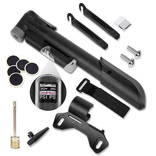 Wanderlife - Mini bomba para bicicleta con manómetro de presión (120 PSI),...