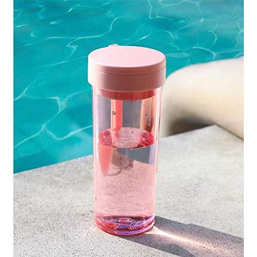 ZHFZD Sportfles, reisbeker, ruimtebeker voor mannen en vrouwen, met grote inhoud, draagbare handbeker met deksel. Size roze