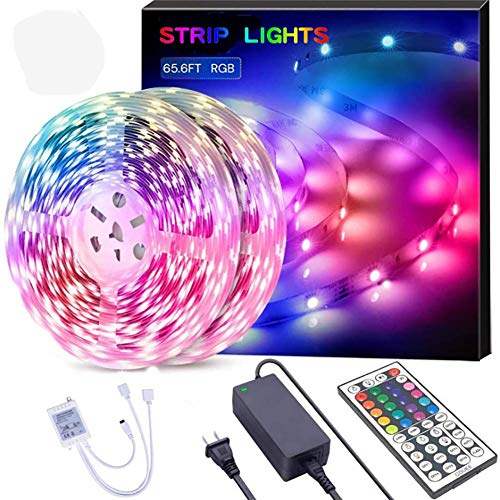 LED Streifen, 20m Wasserdicht RGB LED Strip SMD 5050 600 LEDs LED Licht Streifen mit Fernbedienung Led Stripes Lichtband Leiste Band Beleuchtung für Zuhause, Schlafzimmer, TV, Decke Schrankdeko