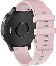 Isabake Correa de Reloj para Garmin Vivoactive 4 /Active/Samsung Galaxy Watch 46mm/Gear S3 Frontier/Classic,22mm Correa de Repuesto de Silicona Suave para Accesorios Garmin Watche