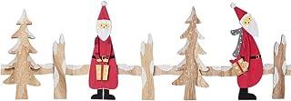 Amosfun Decoración de Valla en Miniatura de Navidad Casa de Pueblo de Papá Noel de Madera Jardín de Hadas Árbol de Navidad Decoración de Fiesta de Vacaciones 90x30cm