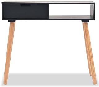 Tidyard Mesa Consola con 1 Cajón Mesa Auxiliar de Sencillo Elegante y Rústico Escritorio de Hecho a Mano Aparador de M...