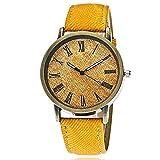 CXJC Reloj de decoración de Bronce de Moda Vintage. Reloj Deportivo de Denim Strap Hombre. (Color : C)