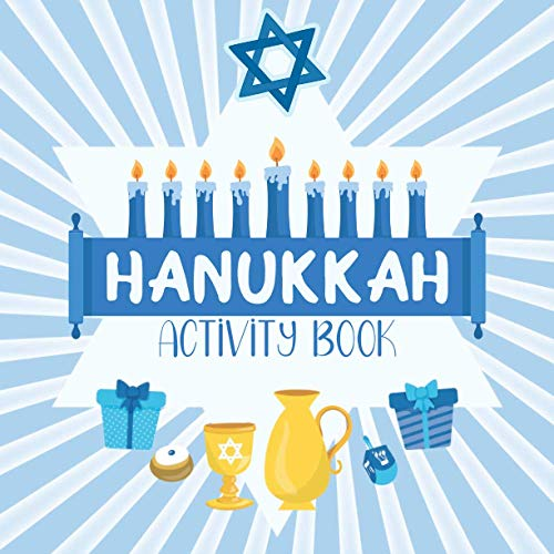 Hanukkah Activity Book: For Kids Ages 6-9: Copy The Picture, Story Starters, Crack The Code & More Logic Puzzles