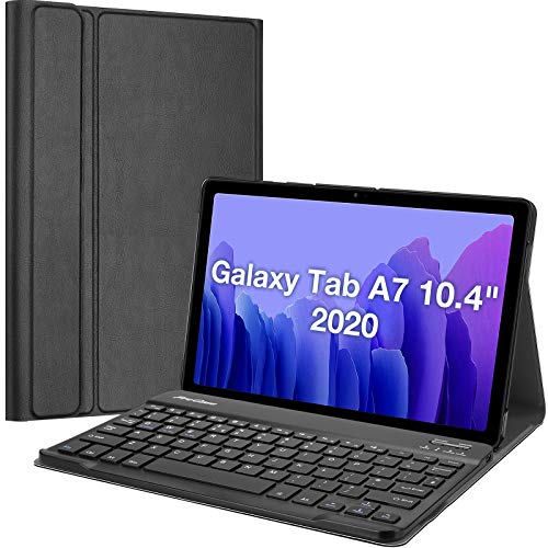ProCase UK Keyboard Case for Samsung Galaxy Tab A7 10.4' (SM-T500 T505 T507) 2020 Release, Protective Cover with Magnetically Detachable Keyboard –Black