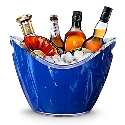RERXN 8L Portaghiaccio Secchiello per Il Ghiaccio Secchio di Ghiaccio Secchiello per Champagne Secchiello per Il Ghiaccio Grande (blu)