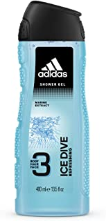 Adidas Ice Dive 3In1 Body, Hair And Face Shower Gel For Him 400 ml