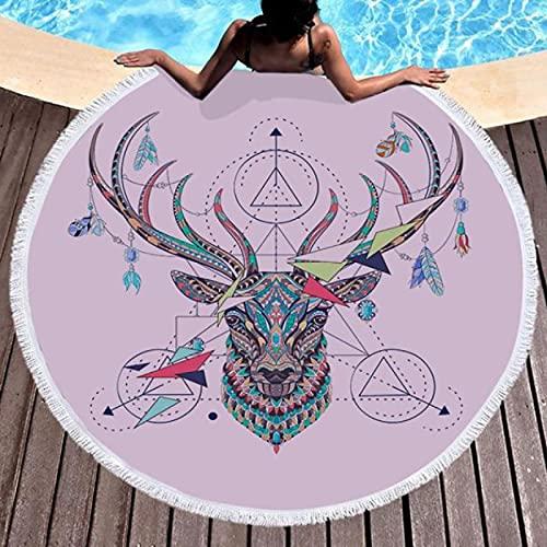GermYan Atrapasueños Dream Fantasy Print Toalla De Baño De Playa Manta De Mar Redonda Alfombra De Yoga Junto Al Mar Estera De Picnic Alfombra Absorbente Manteau Cover Cloak