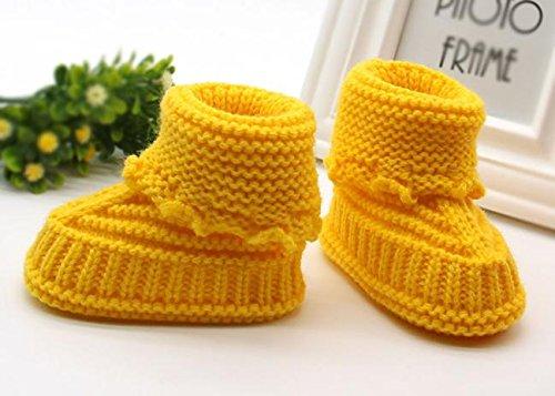 Baby Schuhe Baumwolltuch Material Kleinkind Schuhe Anti-Rutsch Tiere Muster Pwtchenty Baby Handgestrickte Babyschuhe Mode Lässig Prewalker Schuhe Geeignet für 6-36 Monate