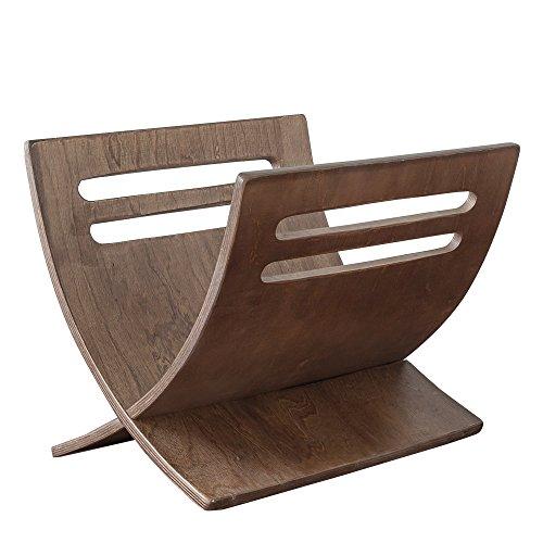 Homestyle4u 965, Zeitschriftenständer Zeitungsständer Holz Braun Modern