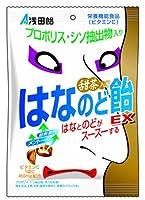 はなとのどがスースーする 浅田飴 甜茶入りはなのど飴EX 70g×10袋【栄養機能食品】