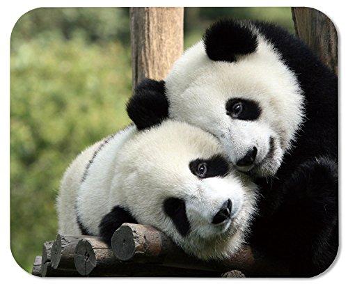 Nature Animals Panda Bears Mammals Customized Rectangle Mousepad, Gaming Mouse Pad Mouse Mat