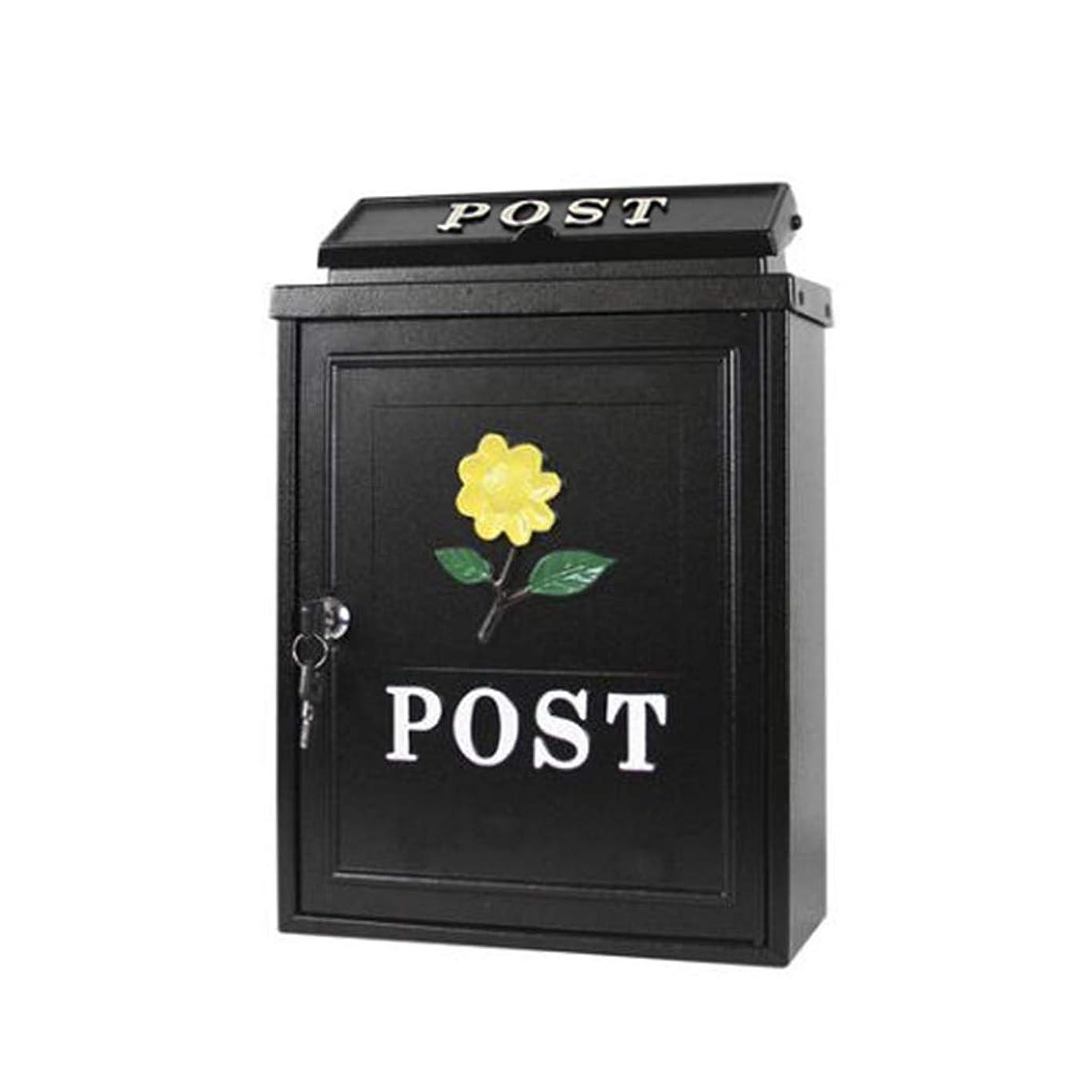安西昨日タイヤメールボックス、ヨーロッパのレターボックス屋外レインウォーターウォールロックポストボックスクリエイティブレターボックス(カラー:B)