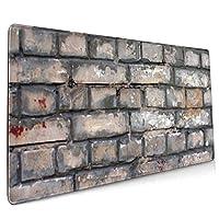 レンガの壁 マウスパッド 40×90 大判 ノンスリップ 防水 ゲーミング おしゃれ マウスの精密度を上がる